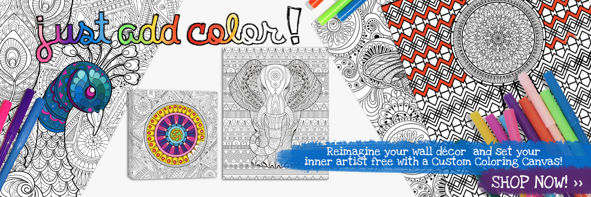 Just add color with specially designed canvases where you can fill in the colors you want!