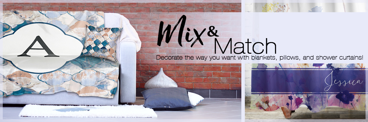 Check out what is new! Pillows, throws, and shower curtains.